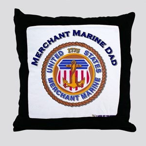 Merchant Marine Dad Throw Pillow